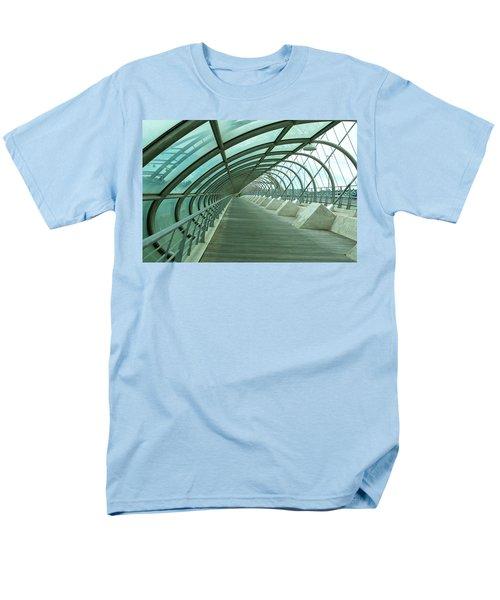 Third Millenium Bridge, Zaragoza, Spain Men's T-Shirt  (Regular Fit) by Tamara Sushko