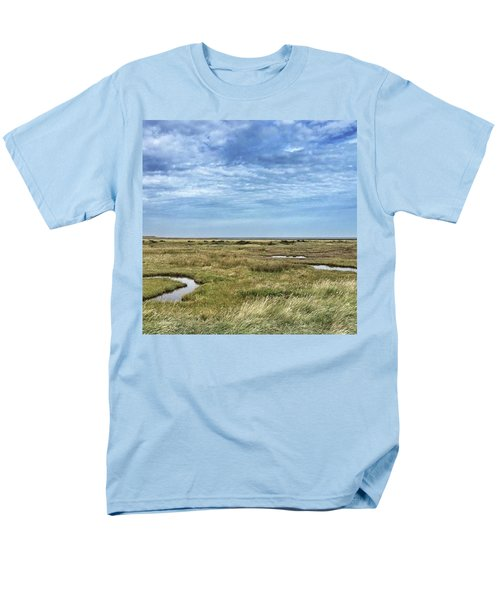 Thornham Marshes, Norfolk Men's T-Shirt  (Regular Fit) by John Edwards