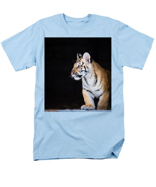 Men's T-Shirt  (Regular Fit) featuring the photograph Tiger Cub by Serge Skiba
