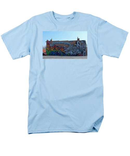Men's T-Shirt  (Regular Fit) featuring the photograph Toledo Loves Love by Michiale Schneider