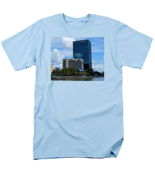 Men's T-Shirt  (Regular Fit) featuring the photograph Toledo's Waterfront I by Michiale Schneider