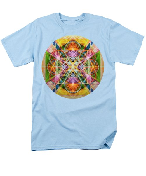 Men's T-Shirt  (Regular Fit) featuring the digital art Torusphere Synthesis Bright Beginning Soulin I by Christopher Pringer