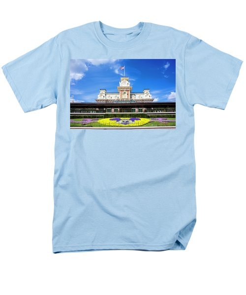Men's T-Shirt  (Regular Fit) featuring the photograph Train Station by Greg Fortier