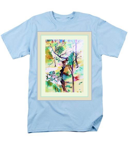 Men's T-Shirt  (Regular Fit) featuring the painting Tree Lovers by Mindy Newman