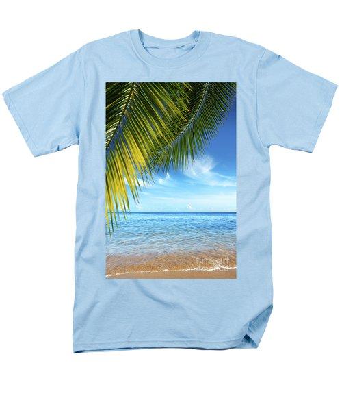 Tropical Beach Men's T-Shirt  (Regular Fit) by Carlos Caetano