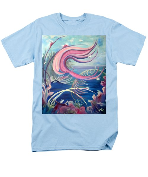 Men's T-Shirt  (Regular Fit) featuring the painting Tropical Dancer by Renate Nadi Wesley