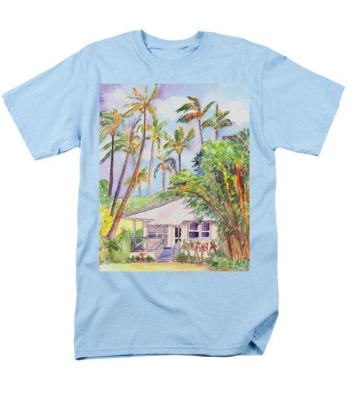 Tropical Waimea Cottage Men's T-Shirt  (Regular Fit) by Marionette Taboniar