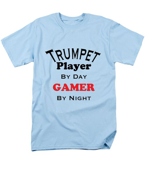 Trumpet Player By Day Gamer By Night 5628.02 Men's T-Shirt  (Regular Fit) by M K  Miller