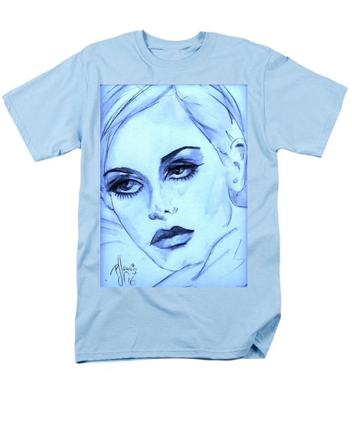 Men's T-Shirt  (Regular Fit) featuring the painting Twiggy In Blue by P J Lewis