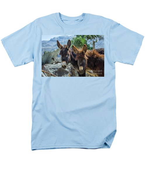Two Donkeys Men's T-Shirt  (Regular Fit) by Patricia Hofmeester