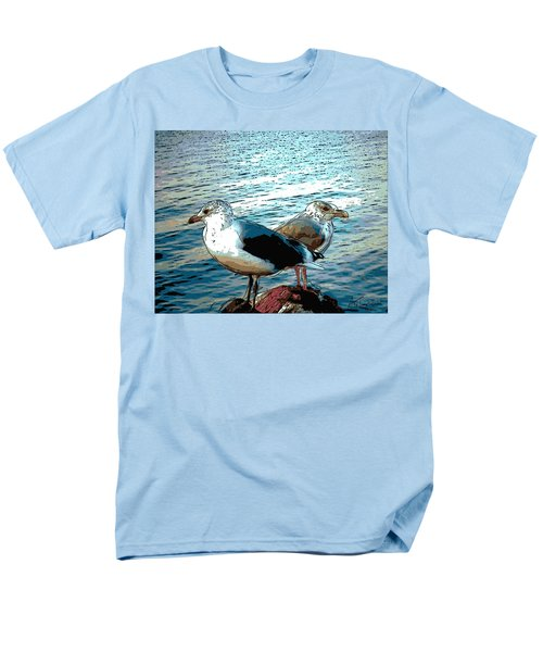 Two Gulls Men's T-Shirt  (Regular Fit) by Ann Tracy