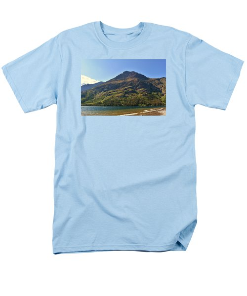 Men's T-Shirt  (Regular Fit) featuring the photograph Two Medicine Lake by Dacia Doroff