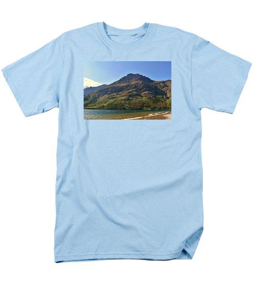 Two Medicine Lake Men's T-Shirt  (Regular Fit) by Dacia Doroff