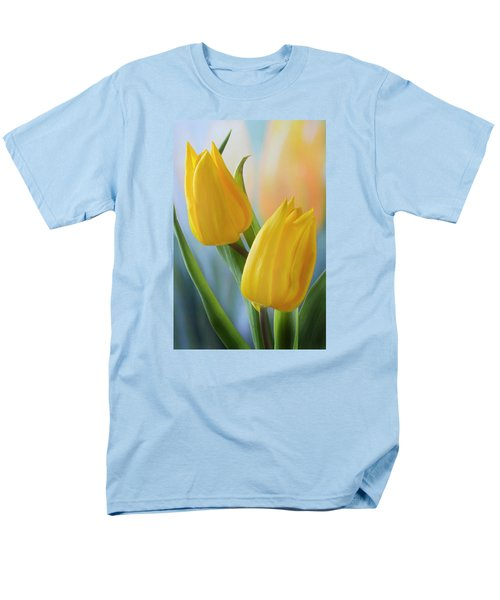 Two Yellow Spring Tulips Men's T-Shirt  (Regular Fit) by Terence Davis