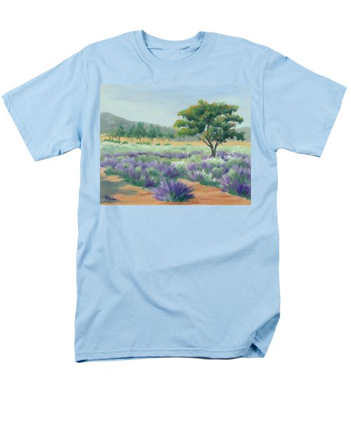 Under Blue Skies In Lavender Fields Men's T-Shirt  (Regular Fit) by Sandy Fisher