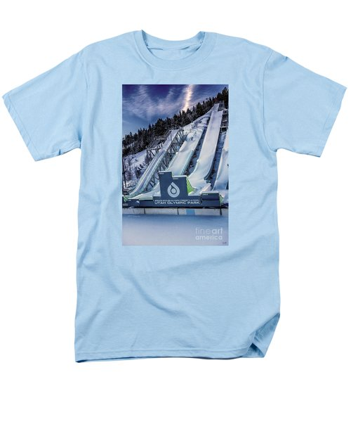 Utah Olympic Park Men's T-Shirt  (Regular Fit) by David Millenheft