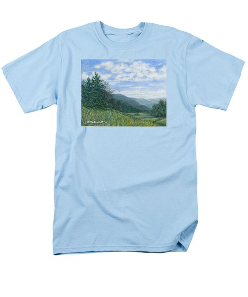 Men's T-Shirt  (Regular Fit) featuring the painting Valley View by Kathleen McDermott