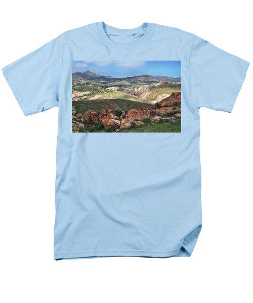 Vasquez Rocks Park Men's T-Shirt  (Regular Fit) by Kyle Hanson