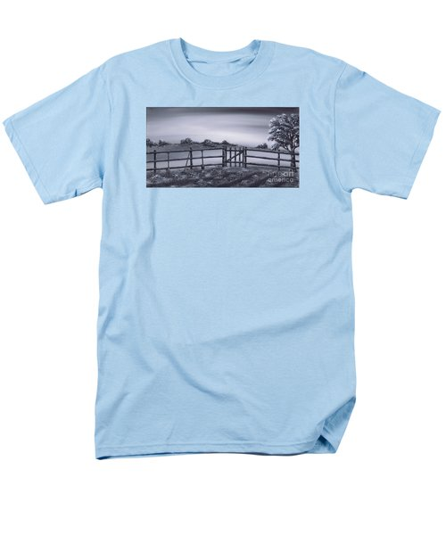 Men's T-Shirt  (Regular Fit) featuring the painting Vegetable Plot by Kenneth Clarke