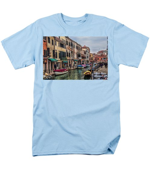 Men's T-Shirt  (Regular Fit) featuring the photograph Venice Street Scenes by Shirley Mangini