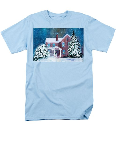 Men's T-Shirt  (Regular Fit) featuring the painting Vermont Studio Center In Winter by Donna Walsh