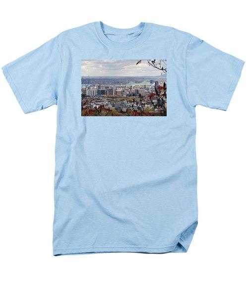View Of The Jacques Cartier Bridge Men's T-Shirt  (Regular Fit) by Reb Frost