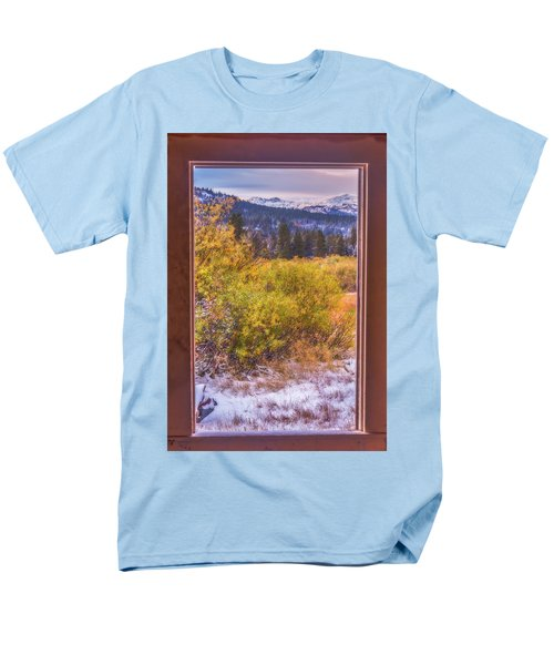 View Out The Frame Of A Broken Window Men's T-Shirt  (Regular Fit) by Marc Crumpler