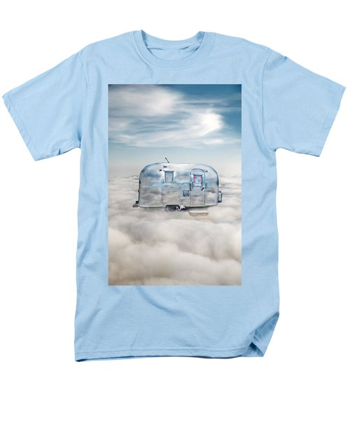 Vintage Camping Trailer In The Clouds Men's T-Shirt  (Regular Fit) by Jill Battaglia