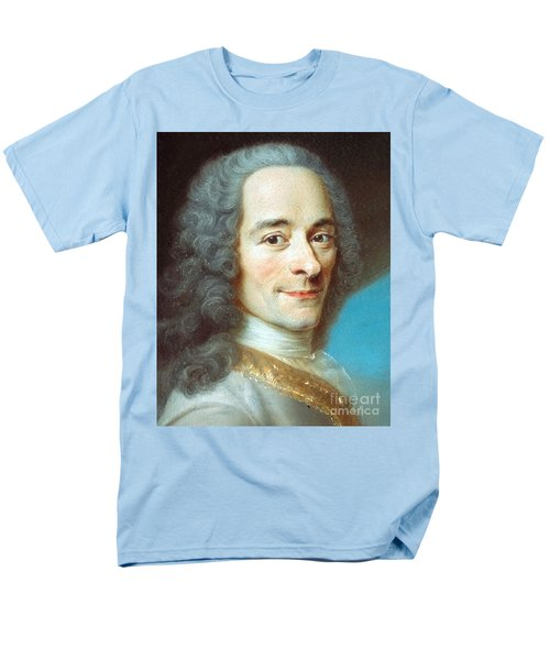 Men's T-Shirt  (Regular Fit) featuring the painting Voltaire by Pg Reproductions