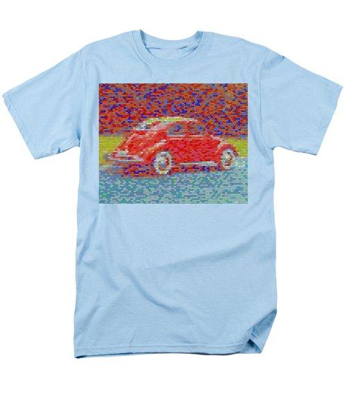 Men's T-Shirt  (Regular Fit) featuring the digital art Vw Bug Pez Mosaic by Paul Van Scott