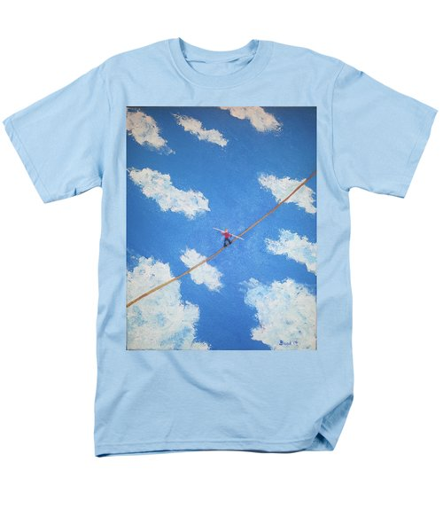 Men's T-Shirt  (Regular Fit) featuring the painting Walking The Line by Thomas Blood