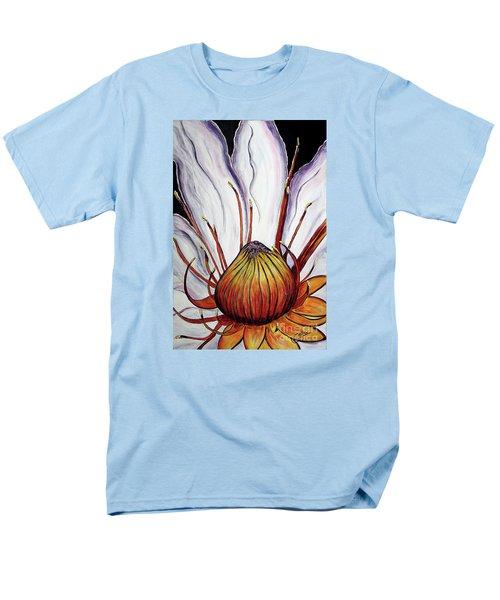 Men's T-Shirt  (Regular Fit) featuring the painting Water Lilly  by Jolanta Anna Karolska