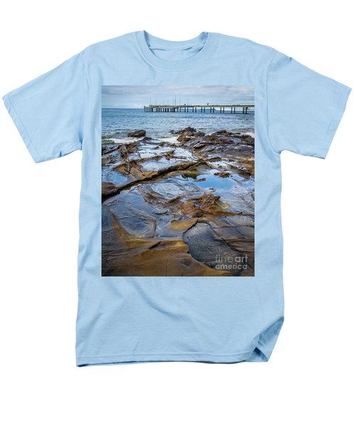 Men's T-Shirt  (Regular Fit) featuring the photograph Water Pool by Perry Webster