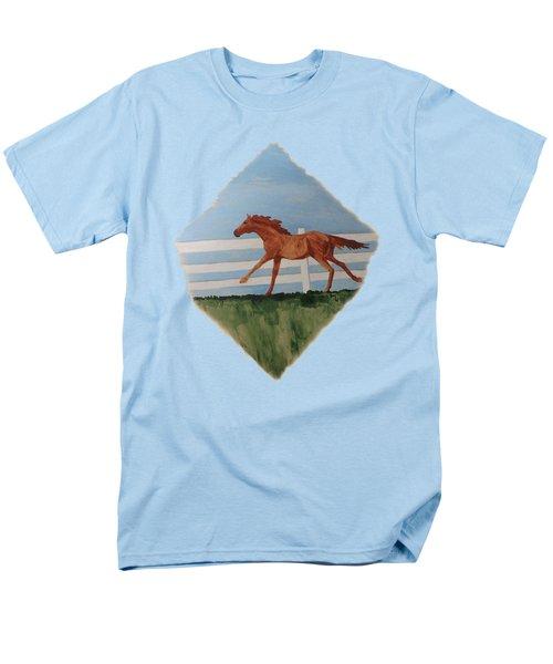 Watercolor Pony Men's T-Shirt  (Regular Fit) by Joyce Wasser