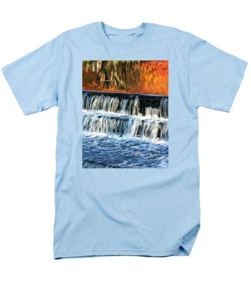 Waterfall In Downtown Waukesha Men's T-Shirt  (Regular Fit)