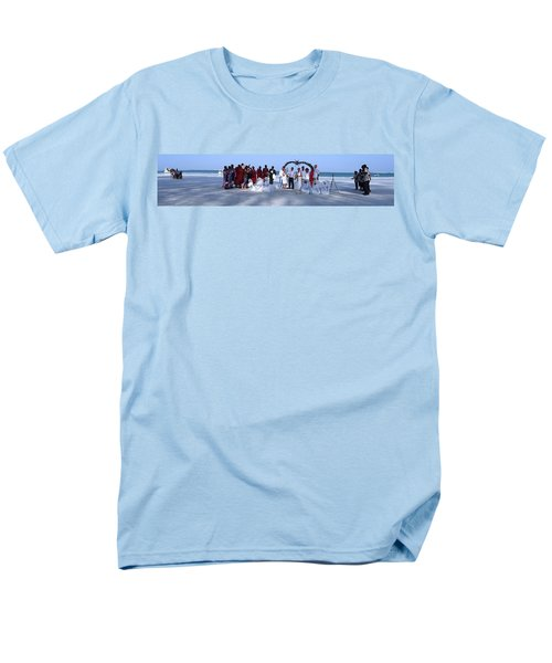 Wedding Complete Panoramic Kenya Beach Men's T-Shirt  (Regular Fit) by Exploramum Exploramum