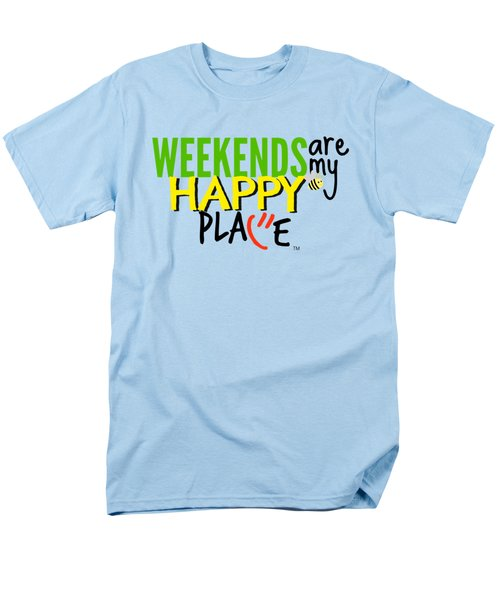 Weekends Are My Happy Place Men's T-Shirt  (Regular Fit) by Shelley Overton