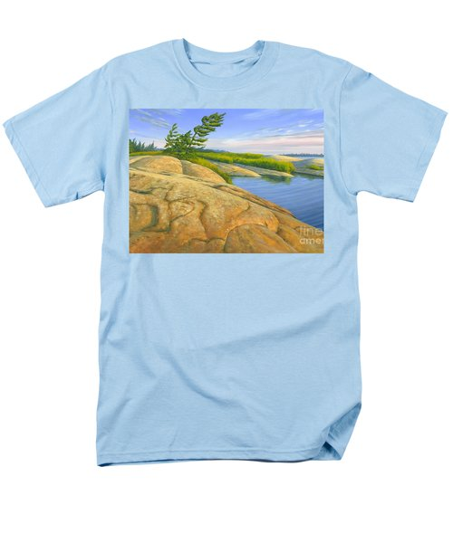 Men's T-Shirt  (Regular Fit) featuring the painting Wind Swept by Michael Swanson