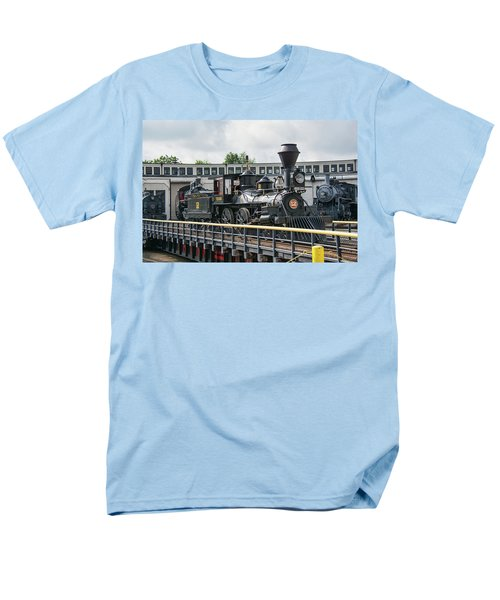 Western And Atlantic 4-4-0 Steam Locomotive Men's T-Shirt  (Regular Fit) by John Black