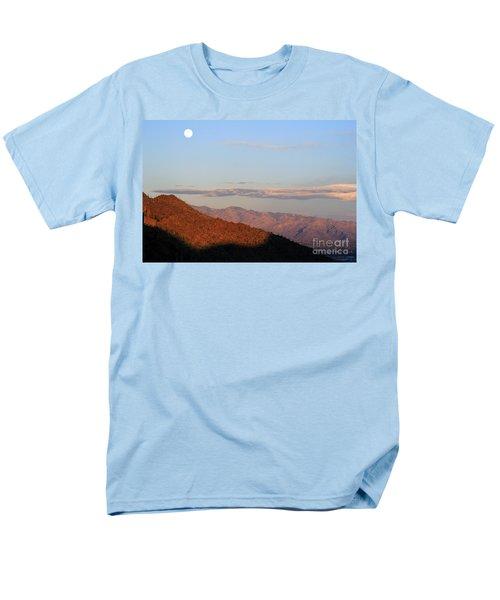 When The Mountains Turn Pink... Men's T-Shirt  (Regular Fit) by Paula Guttilla