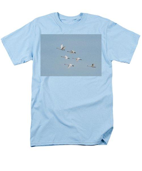 Whistling Swan In Flight Men's T-Shirt  (Regular Fit)
