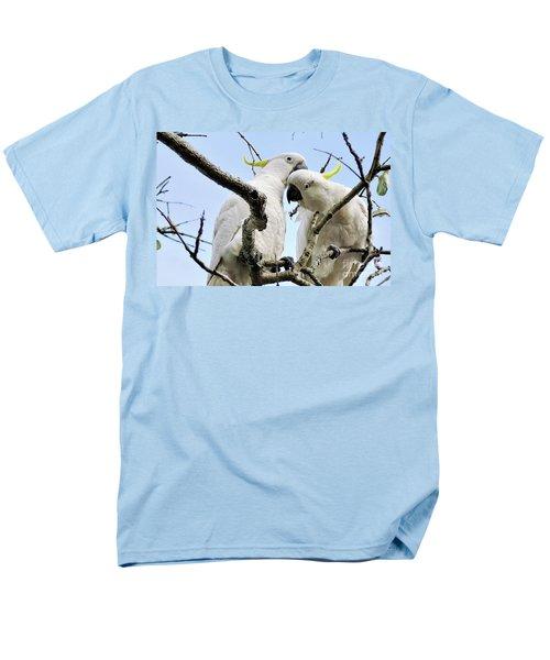 White Cockatoos Men's T-Shirt  (Regular Fit) by Kaye Menner