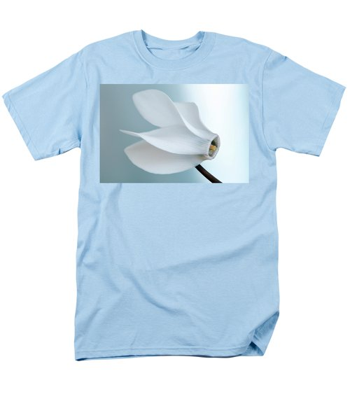 Men's T-Shirt  (Regular Fit) featuring the photograph White Cyclamen. by Terence Davis