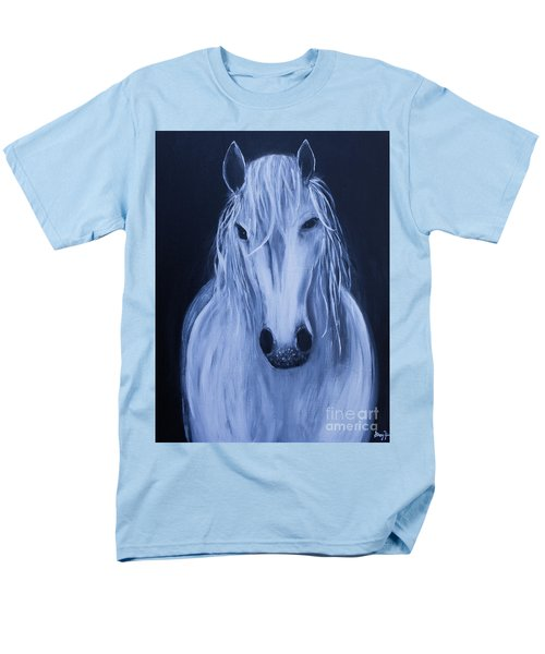Men's T-Shirt  (Regular Fit) featuring the painting White Horse by Stacey Zimmerman