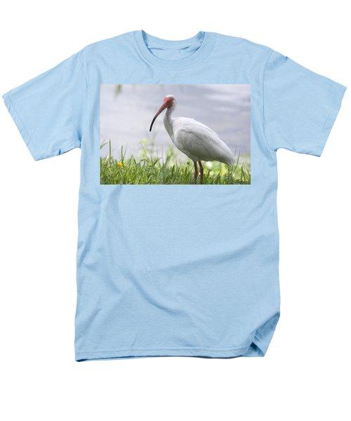 White Ibis  Men's T-Shirt  (Regular Fit) by Saija  Lehtonen