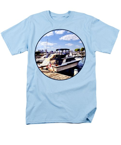 Wiggins Park Marina Men's T-Shirt  (Regular Fit) by Susan Savad