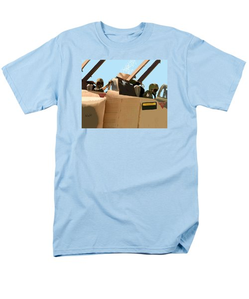 Men's T-Shirt  (Regular Fit) featuring the digital art Wild Weasels by Walter Chamberlain