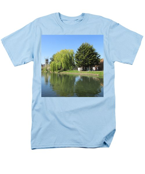Men's T-Shirt  (Regular Fit) featuring the photograph Jessica Willow Likes David Pine - Grand Union Canal - Park Royal  by Mudiama Kammoh