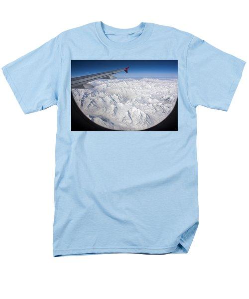 Window To Himalaya Men's T-Shirt  (Regular Fit) by Hitendra SINKAR