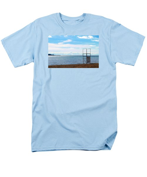 Men's T-Shirt  (Regular Fit) featuring the photograph Winter Beach by Valentino Visentini